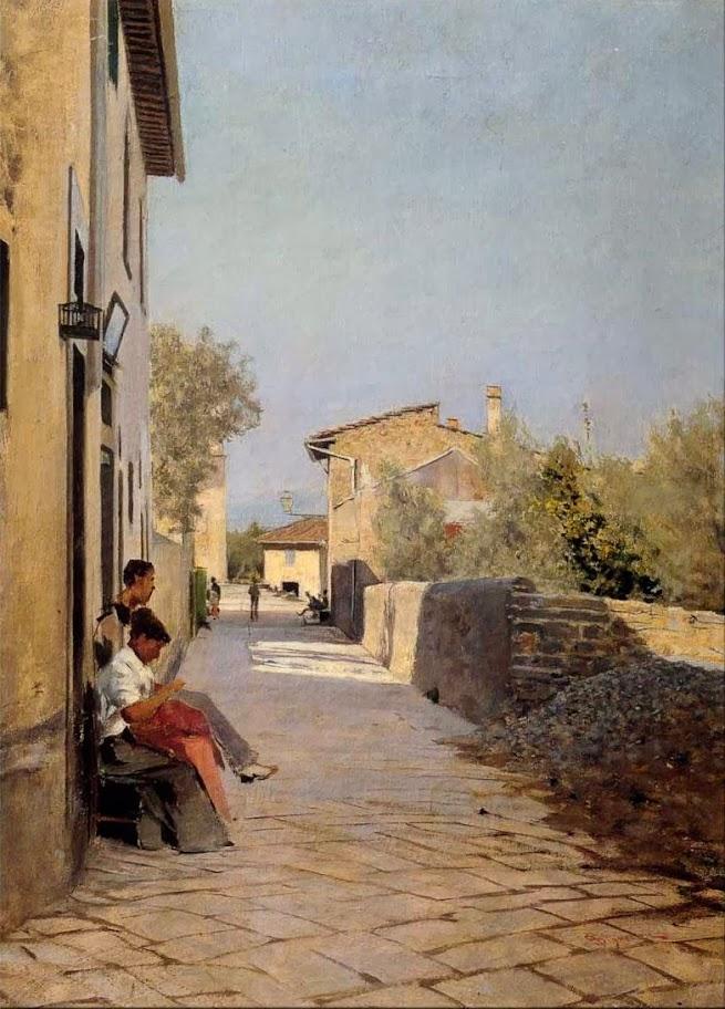 Telemaco Signorini - Stradina di Settignano