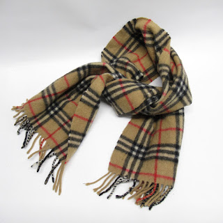 Burberry Cashmere-Blend Check Scarf