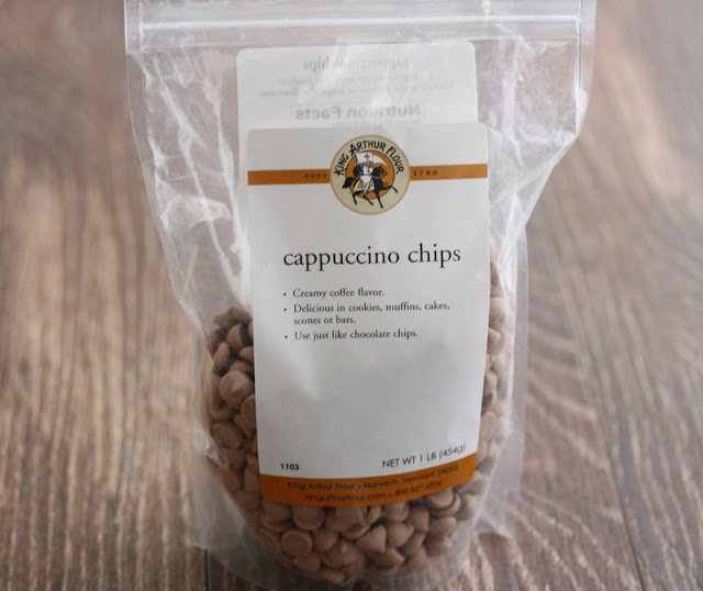 a bag of cappaccino chips