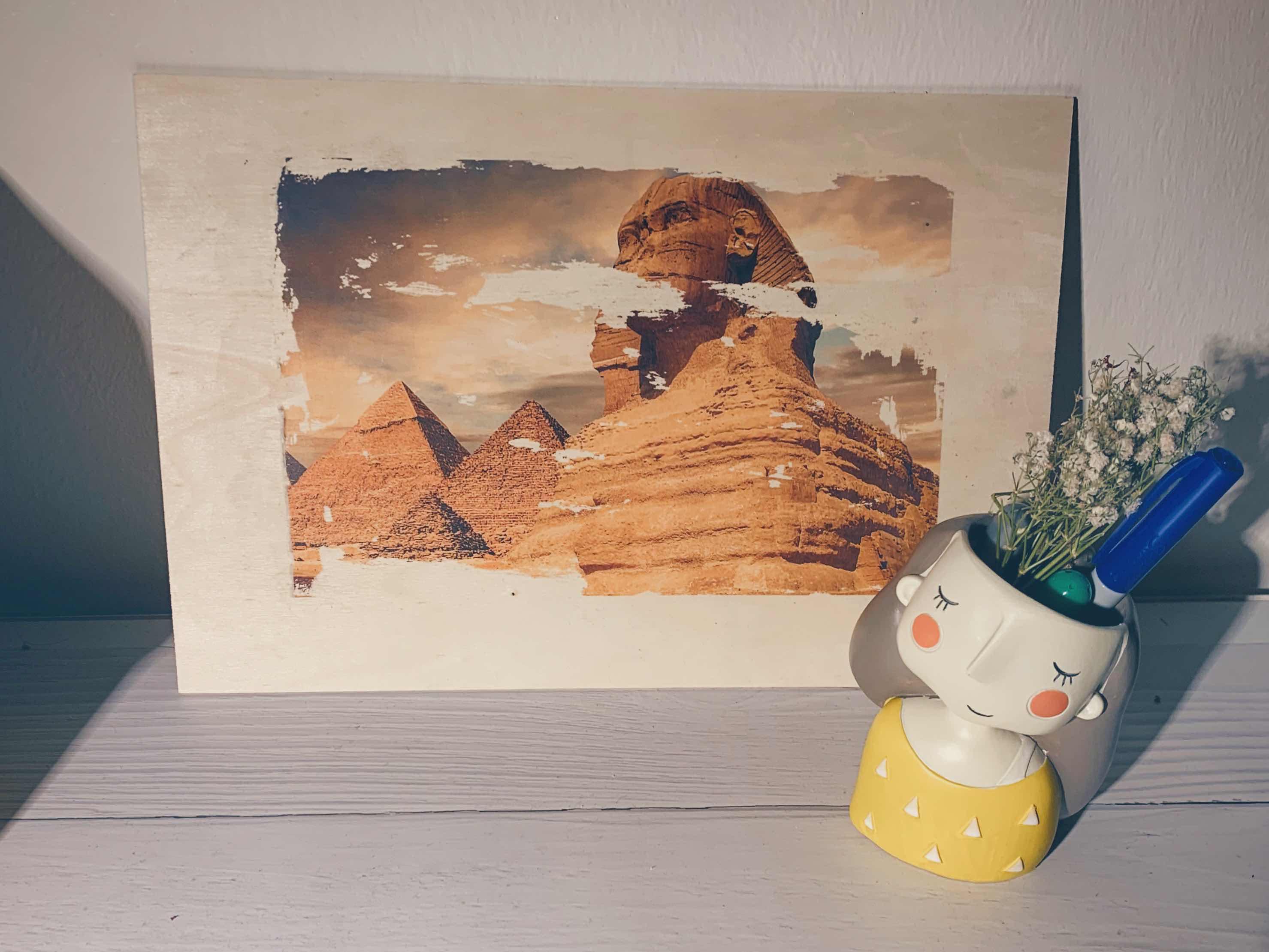 طباعة صورة على خشب