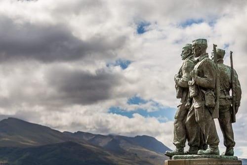 Commando statue Scotland