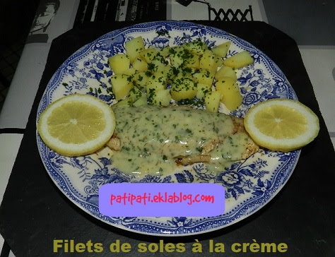Filets de sole à la crème