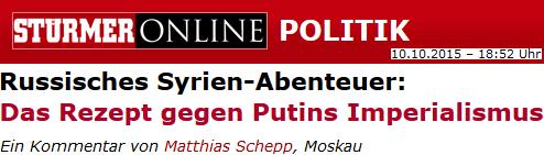 Das Rezept gegen Putins Imperialismus