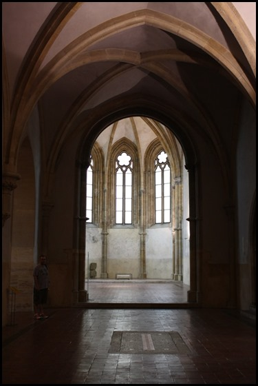 Looking into the Presbytery of the Church of St Francis, St Agnes of Bohemia