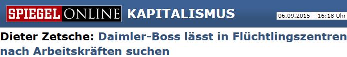 Dieter Zetsche: Daimler-Boss lässt in Flüchtlingszentren nach Arbeitskräften suchen