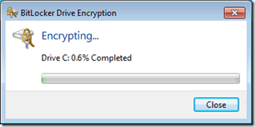 bitlocker encrypting the USB Drive