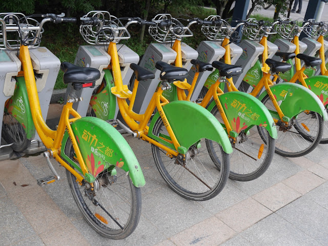 Zhuzhou city bicycles with two seats