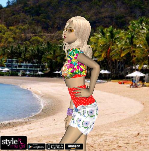 English summer dress style me girl block