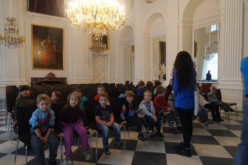Student field trip at Wilanow Palace Museum Poland