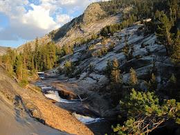 Cascades below our camp.