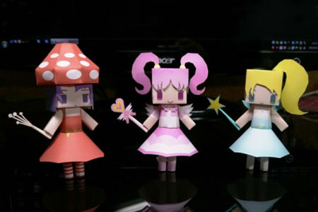 gdgd Fairies Papercraft