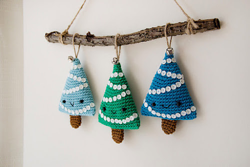Not 2 late to craft: Compte enrera per Nadal - arbre amigurumi / Christmas countdow - amigurumi tree