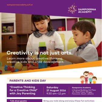 """""""Creative Thinking for Creative Child"""" dengan Metode STEAM bersama Sampoerna Academy"""