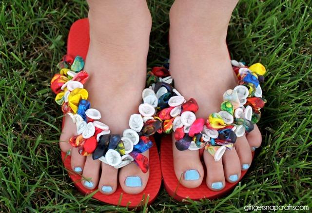 5f26605ba25ae Ginger Snap Crafts  Tie Dye Balloon Flip Flops  tutorial