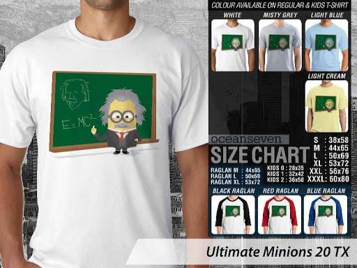 Kaos Kartun Ultimate Minions 20 Einstein distro ocean seven
