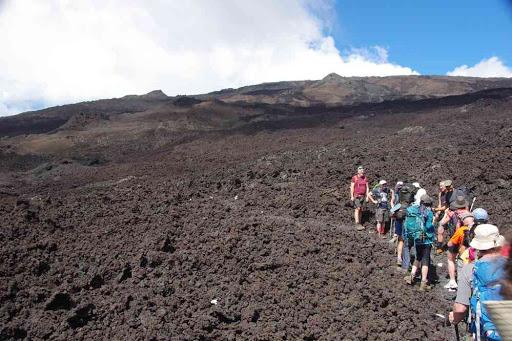 La coulée de lave de 2007.