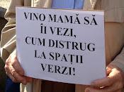 Vino mamă să îi vezi cum distrug la spaţii verzi! - Protest împotriva distrugerii spaţiilor verzi din Suceava