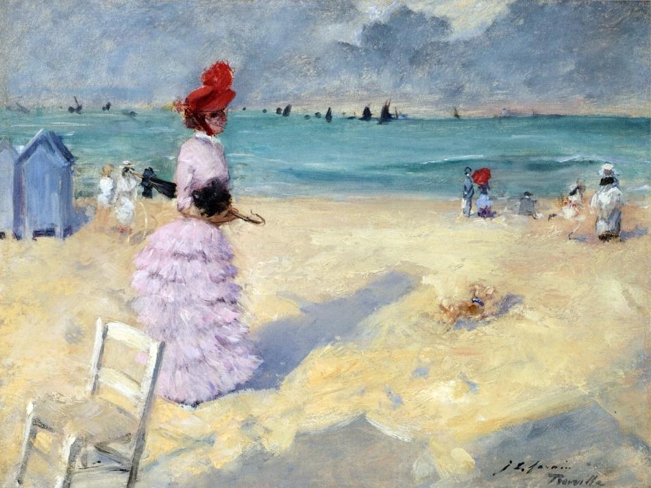 Jean-Louis Forain - The Beach at Trouville