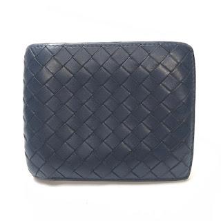 Bottega Veneta Dark Blue Bifold Wallet