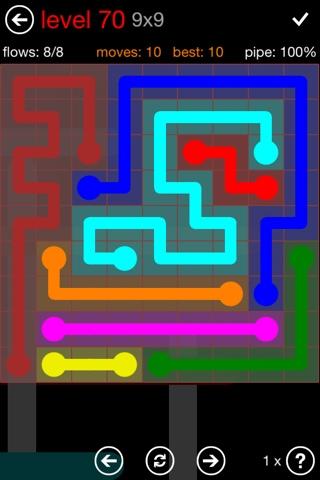 Flow Free 9x9 Mania Level 70 çözümü Flow Free Hints