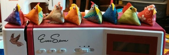 chicken pin cushion minis