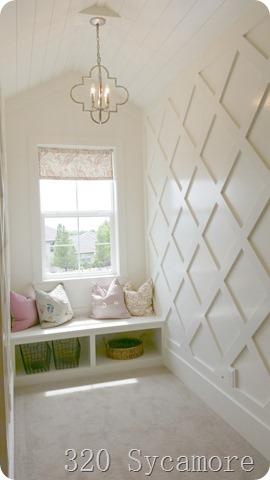 window seat wall treatment