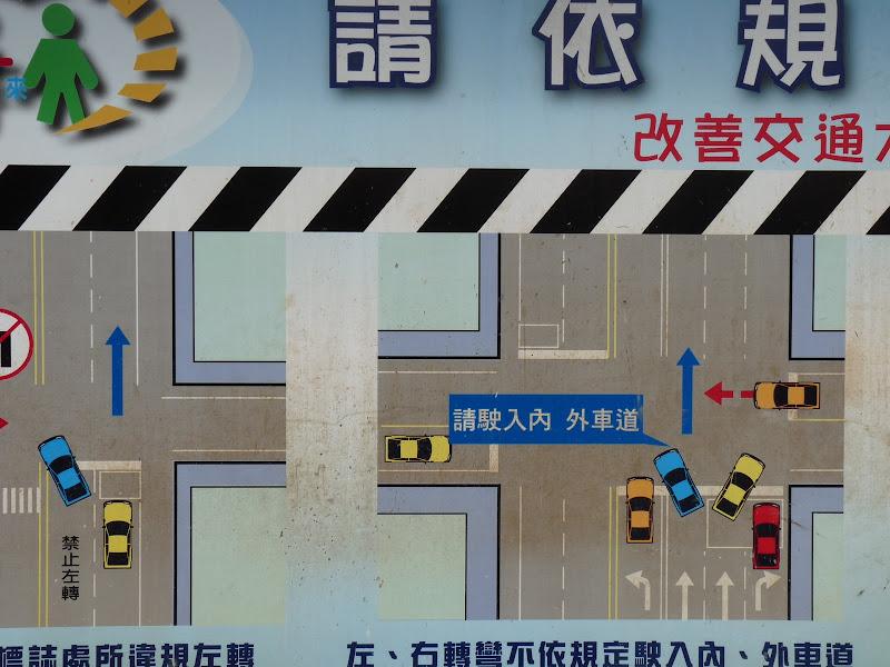 Que vois je ? des règles de code de la route a Taiwan?