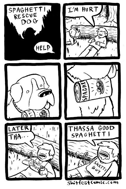Shitfest Comic - Thassa Good Spaghetti, Rescue Dog