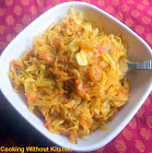 Cabbage peanut stir fry-Kobi nu shaak