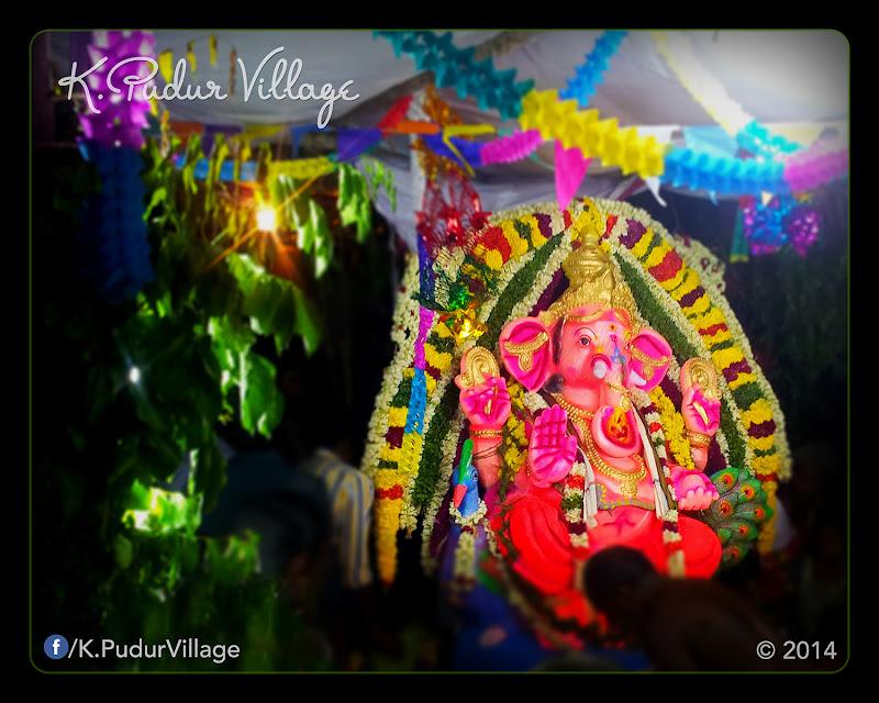 K.Pudur Village Vinayaka Chaturthi festival celebration 2014 (All his devotees during this festival worship)