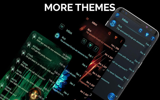 Dark Mode SMS Messenger Theme screenshot 3