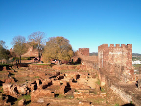 Roman ruins in the fort in Silves