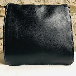 Gucci Navy Blue Leather Messenger Bag