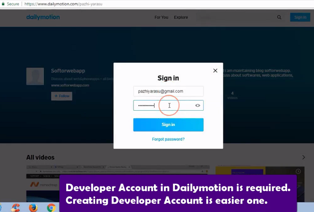 Login-to-dailymotion-account