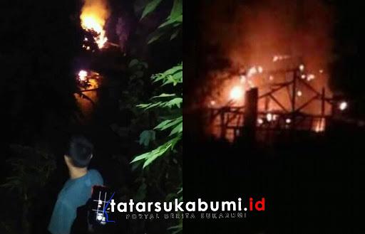 Kebakaran Pabrik Tahu di Parungkuda Sukabumi/ Foto : Rapik Utama (4/1/2019)