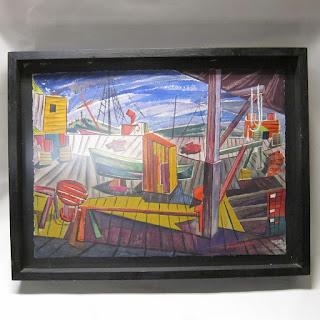 Rasmussen Signed Modernist Watercolor