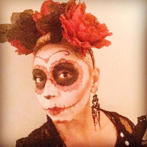 halloween sugar skull easy costume and makeup  the