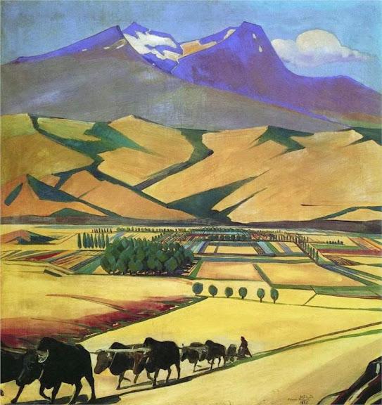 Martiros Saryan - Mount Aragats, 1925