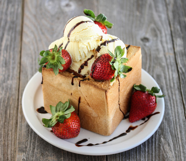 Strawberry and Chocolate Brick Toast