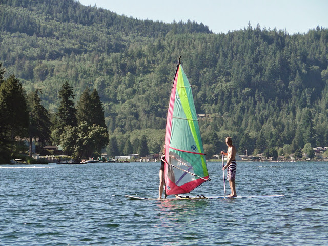 Wind surfing on Lake Samish / Credit: Leslie Ellis