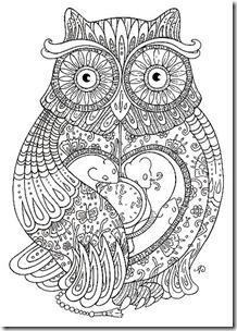 dibujos de buhod en blanco y negro (23)
