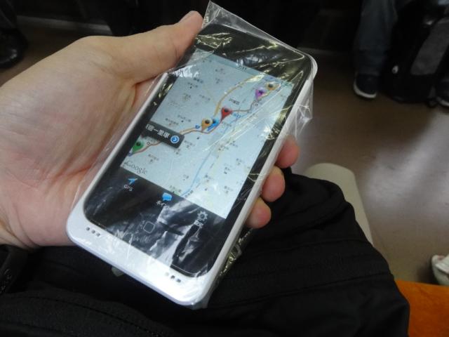 ipod touch には、ジップロックの袋で防水仕様
