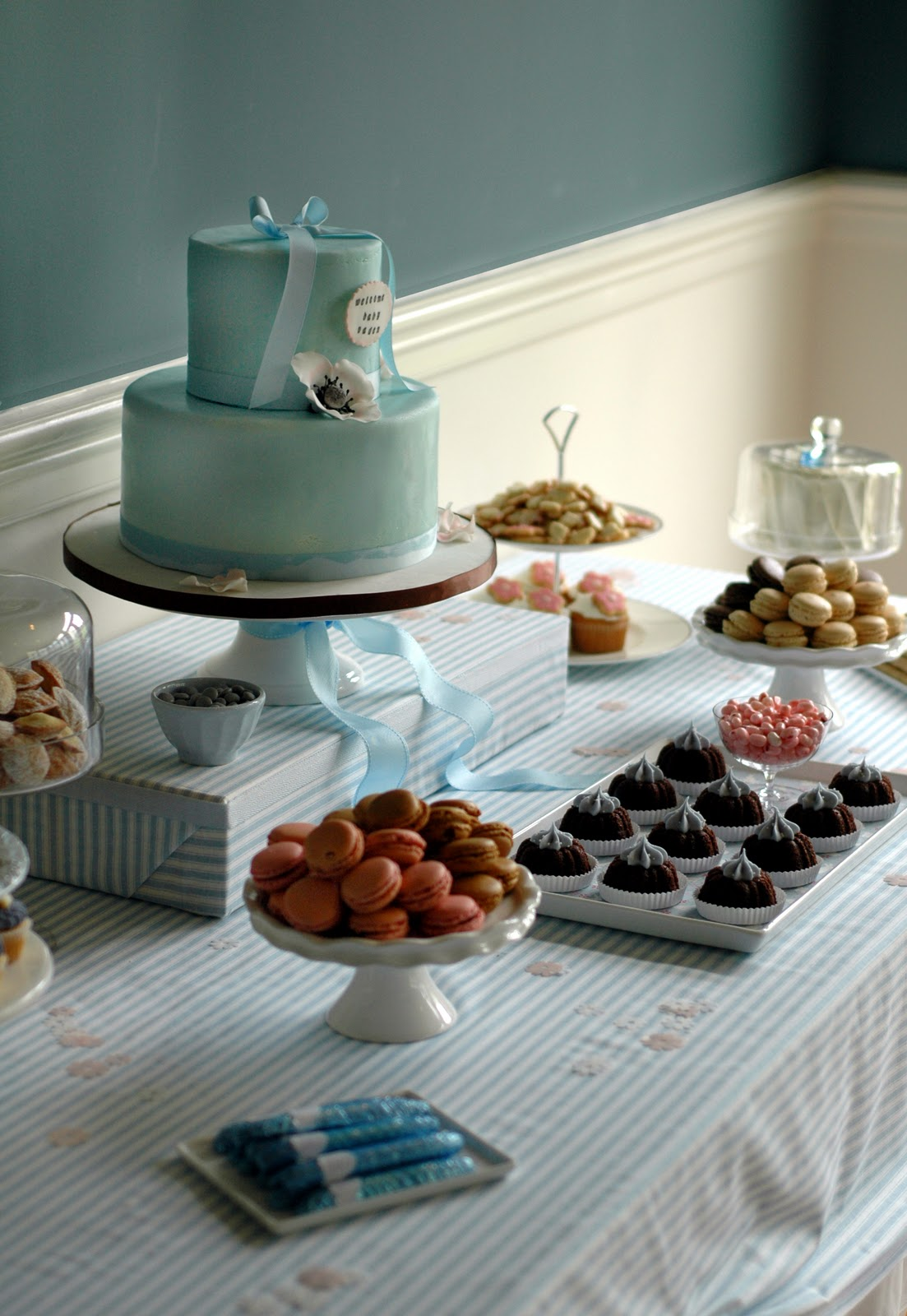baby shower dessert bar by bunny cakes