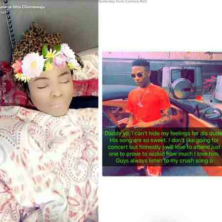 I can't hide my feelings for you- Bobrisky tells Wizkid