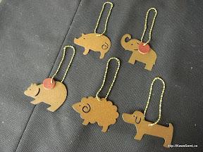 動物チャームも一緒にご購入(¥350) もちろんバッグにも付けられます。