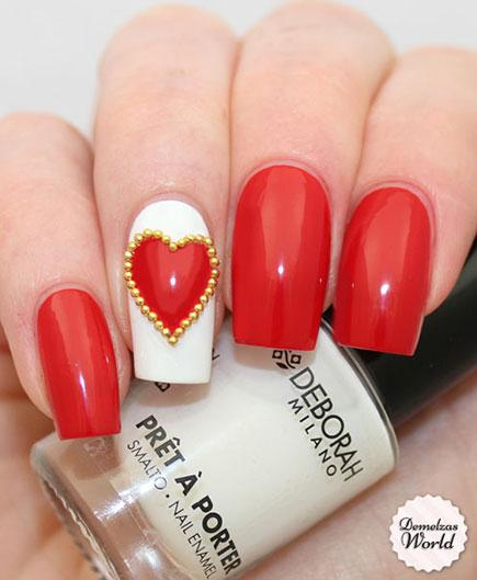 Top 100 Lovely Ideas To Have Valentines Day Nails Art Designs