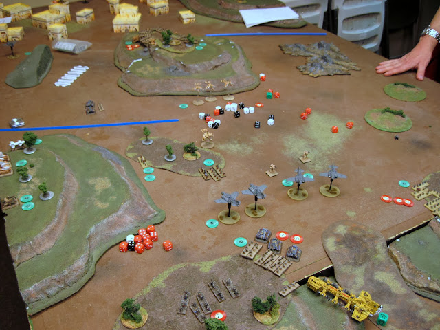 We called it here as the Marines were out of activations that could contest the second objective.