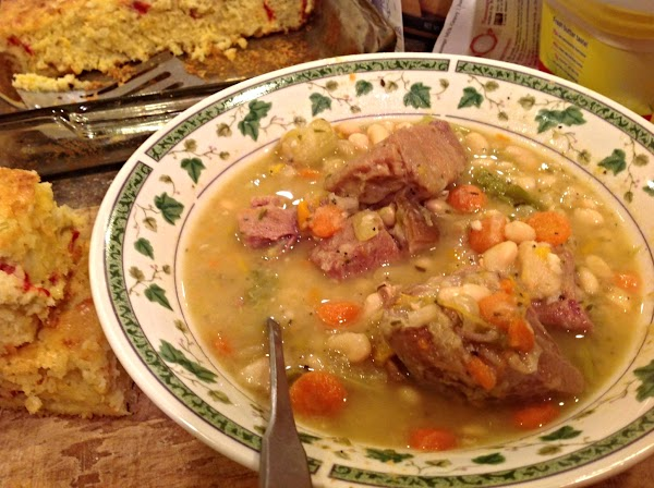 I served mine with HUNGRY MANS BEAN SOUP. Please NOTE I prefer using YELLOW...