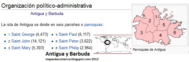 Antigua y Barbuda por provincias