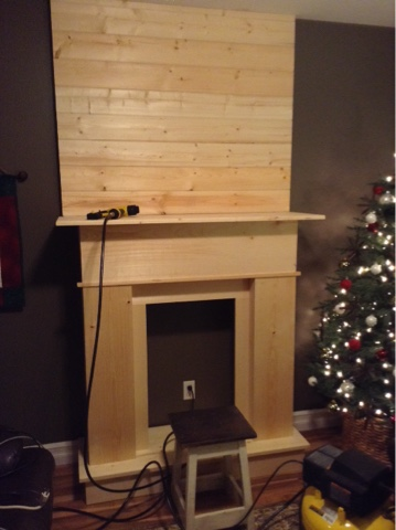 During His Short And Busy Time At Home He Managed To Build The Fireplace Plank Wall In Our Small Dining Area